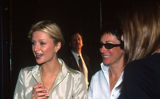 Paris Hilton and Ghislaine Maxwell at an event in New York in the year 2000. Photo / Getty