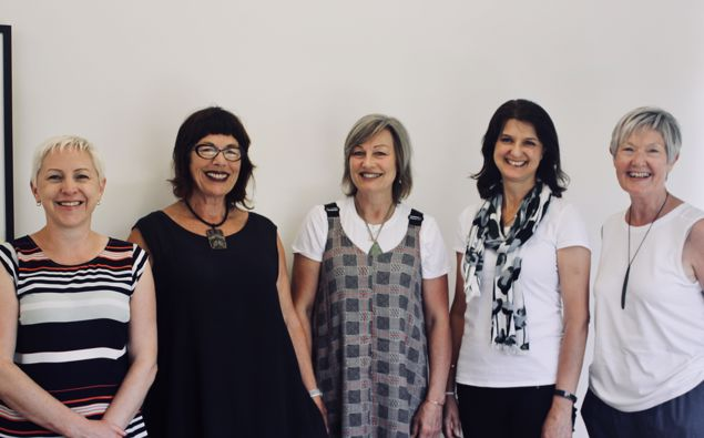 Kaye Avery, right, with the CareerEQ consultants. (Photo / Supplied)