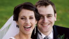 Lecretia Seales with her husband Matt Vickers on their wedding day. Photo / Nicola Topping