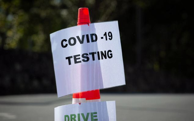 A Covid-19 testing station in New Zealand. (Photo / NZ Herald)