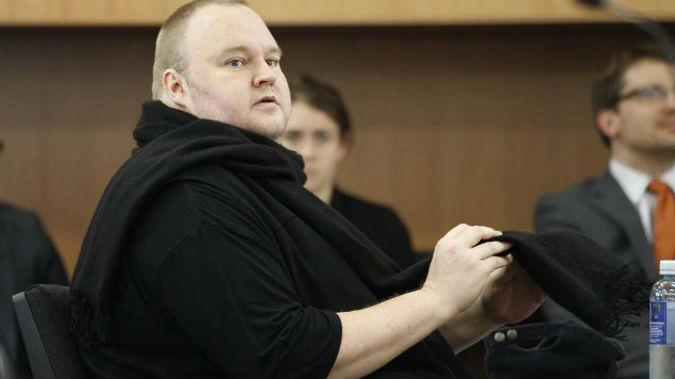 Kim Dotcom at a previous court appearance. (Photo / NZ Herald)