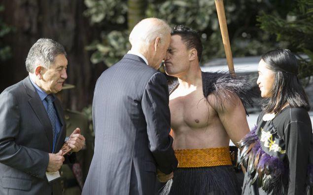 Joe Biden visited New Zealand in 2016. (Photo / AP)