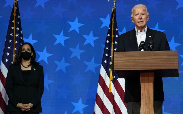 Joe Biden wirth his VP Kamala Harris - the first Black woman to hold the position. (Photo / AP)