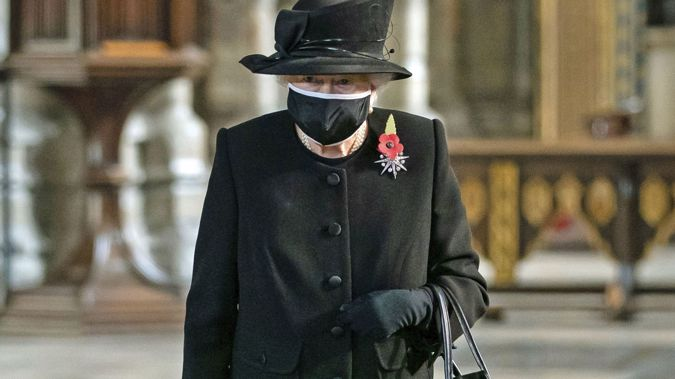 Queen Elizabeth II attends a ceremony to mark the centenary of the burial of the Unknown Warrior, in Westminster Abbey, London. (Photo / AP)