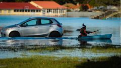 Road or river? A kayak is probably the better vessel in this case. HBT Photo / Paul Taylor