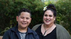 """JJ Marriner, left, has lived in the same home his whole life. That makes him a rarity among New Zealand kids. """"We feel blessed in that respect,"""" said his mother Linda. Photo / Alex Burton"""