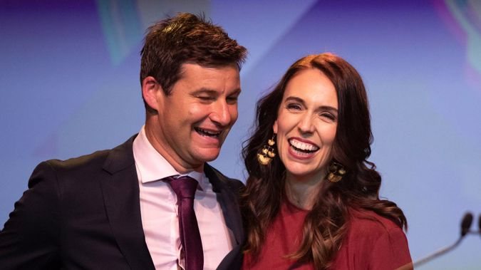 Jacinda Ardern says she and partner Clarke Gayford have put together some plans for their wedding day - but there's no indication the first couple will be exchanging vows any time soon. Photo / AP
