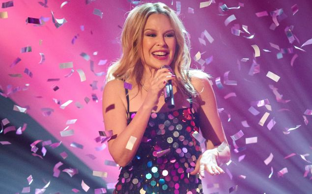 Kylie Minogue performs on The Graham Norton Show. (Photo / Getty)