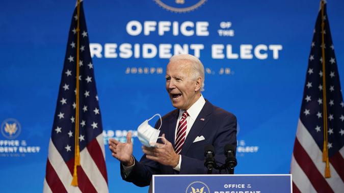 President-elect Joe Biden speaks about economic recovery. (Photo / AP)
