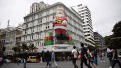 The Santa used to tower over Queen Street. (Photo / File)