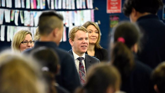 Education Minister Chris Hipkins has announced $132m worth of school upgrades across the North Island today. Photo / George Novak