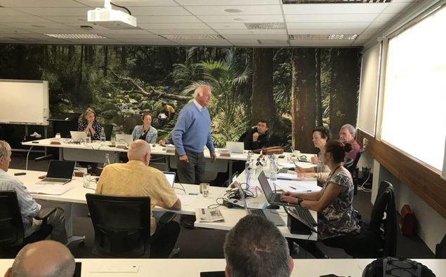 Former NRC deputy chairman John Bain delivers his resignation at the council's Maōri constituencies meeting last month. (Photo / Susan Botting)