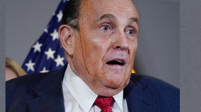 Former Mayor of New York and lawyer for President Donald Trump Rudy Giuliani, speaks during a news conference at the Republican National Committee headquarters. Photo / AP