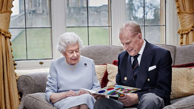 The royal family have released a new photo to mark the Queen and Prince Philip's 73rd wedding anniversary. Photo / Chris Jackson via Getty Images