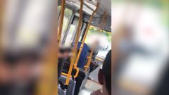 A woman called out 'white power' to a group of children on a bus in Auckland. Video / Supplied