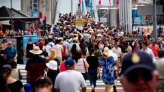 The weekend is being treated as a trial run for the 200,000 spectators in the city projected by Auckland Tourism, Events and Economic Development (ATEED).