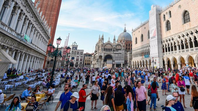Venice to bring back entry fee for daytrippers to combat overtourism. (Photo / Getty)