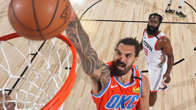 Steven Adams is reportedly on the move from Oklahoma City to New Orleans. Photo / Getty