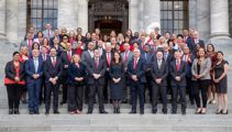 Why Chris Hipkins was late for the Labour caucus class photo