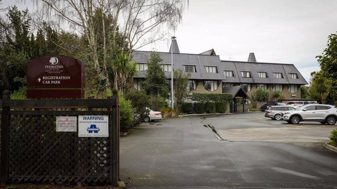 The Pakistan cricket squad have been staying at the Chateau on the Park hotel in Christchurch. Photo / RNZ