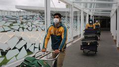 The Pakistan cricket team arriving in Christchurch. Photo / via Twitter