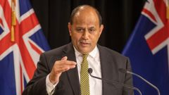 Minister of Maori Development Willie Jackson during the post-Cabinet press conference. Photo / Mark Mitchell