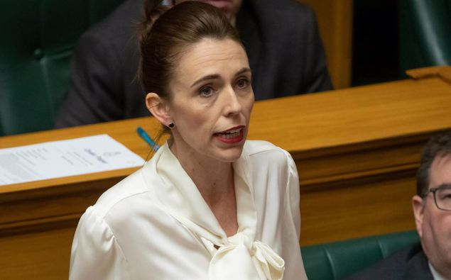 Prime Minister Jacinda Ardern moving a motion in the House to declare a climate change emergency. Photo / Mark Mitchell
