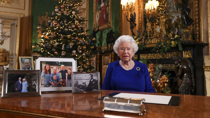 The Queen, seen in her Christmas message last yearm is spending Christmas at Windsor Castle. (Photo / AP)