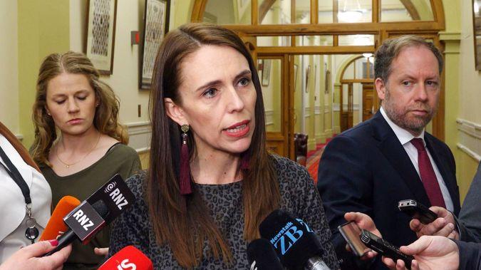 Prime Minister Jacinda Ardern during her caucus run press conference at Parliament, Wellington. 17 November, 2020. (Photo / Mark Mitchell)