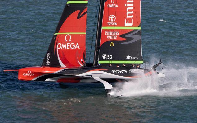 Team New Zealand in action. Photo / Brett Phibbs