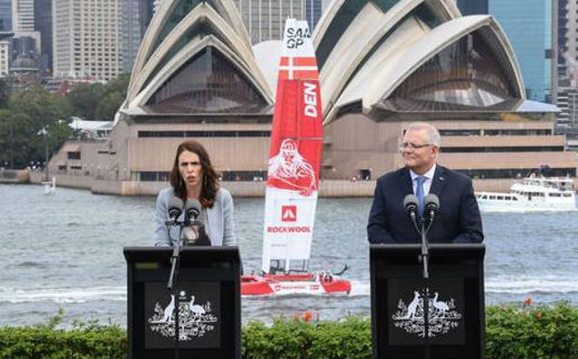 Jacinda Ardern and Scott Morrison. (Photo / Getty)