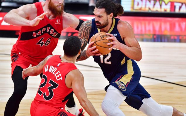 Steven Adams impressed in his first regular season NBA game with the New Orleans Pelicans. Photo / Getty Images