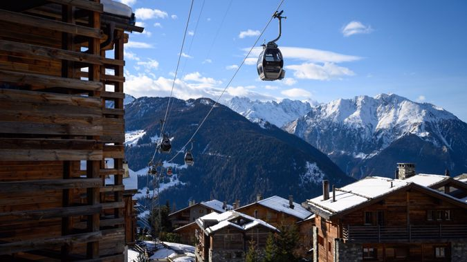 Officials say British skiers fled Verbier after nightfall to avoid a Covid quarantine. (Photo / Getty)