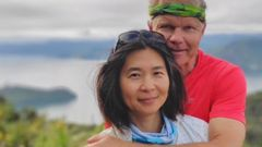 Kana Hirose, 50, and husband Otto Lijzenga, 57, from Blenheim. Hirose died December 24, 2020, during a cycle ride the couple made on the Great Taste Trail in the Spooners Range. Photo / Supplied