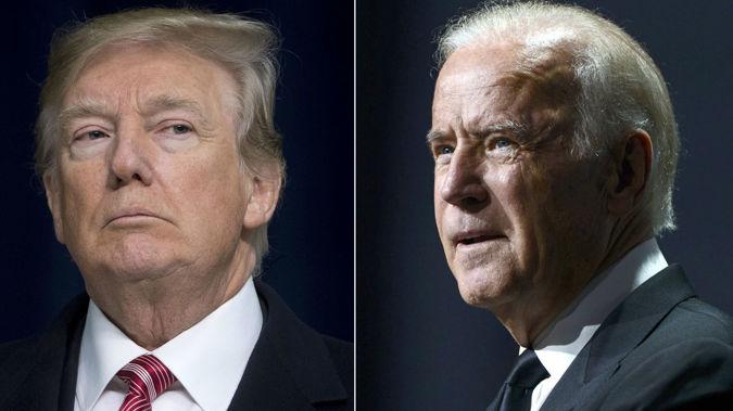 Donald Trump and Joe Biden. (Photo / CNN)