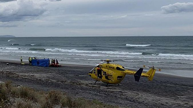 Emergency services rushed to Waihi Beach just after 5pm on Thursday. Photo / Tadhg Stopford