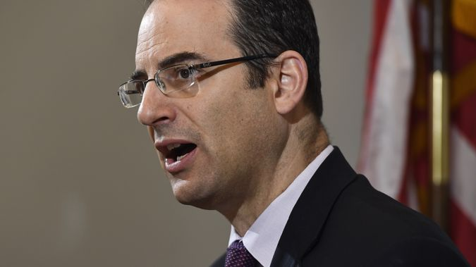Colorado Attorney General Phil Weiser talks during a news conference opening a grand jury investigation into the death of Elijah McClain, a 23-year-old Black man who was stopped as he walked down the street, placed in a neck hold and injected with a sedative in 2019. Photo / AP