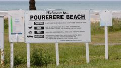 The person who died while diving at Pourerere Beach on Christmas Day was 17-years-old. (Photo / Supplied)