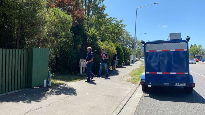 Police are at a property in Papanui where a body has been found. Photo / Anna Leask