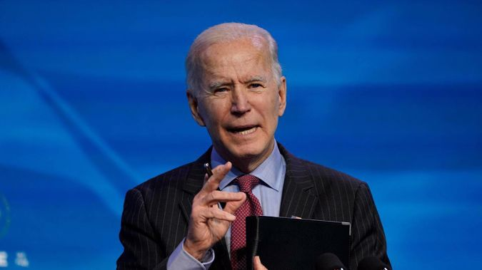 Biden received his second dose of the vaccine earlier this week. Photo / AP