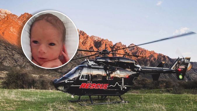 Kora Lord was born onboard the Otago Rescue Helicopter. Photos / Supplied