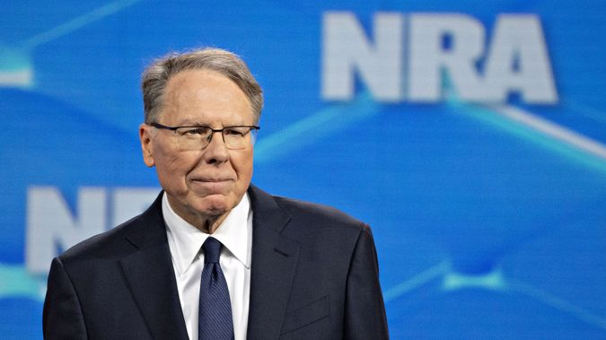 Wayne LaPierre, chief executive officer of the National Rifle Association (NRA), during aNRA annual meeting in Indianapolis in 2019. (Photo / Getty)