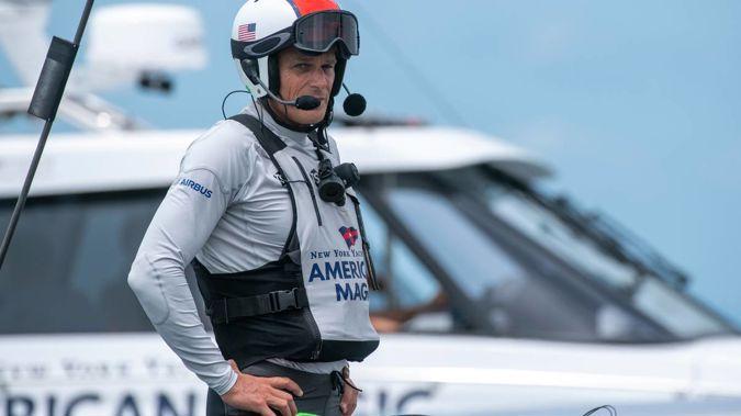 American Magic helmsman Dean Barker during the Prada Cup challenger series. Photo / Photosport