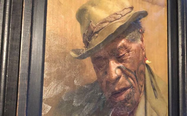 Sleep 'tis a Gentle Thing by New Zealand artist Charles Frederick Goldie was stolen alongside numerous other unique artworks and antiques. Photo / NZ Police