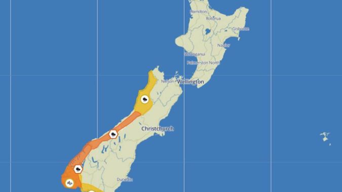 The weather has turned Autumnal, with lower temperatures and thundery showers across the country. Image / MetService