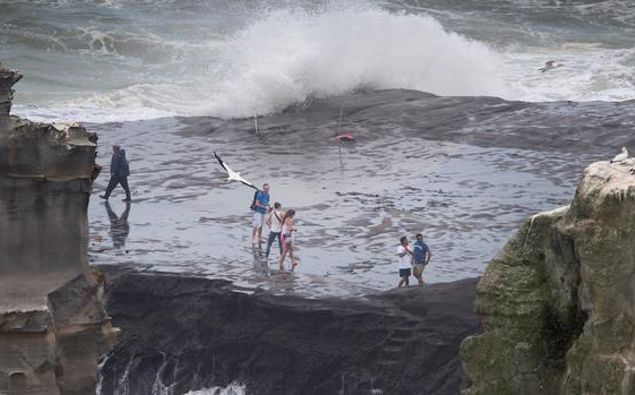 Participants were asked to identify rip currents in Muriwai Beach. (Photo / NZ Herald)
