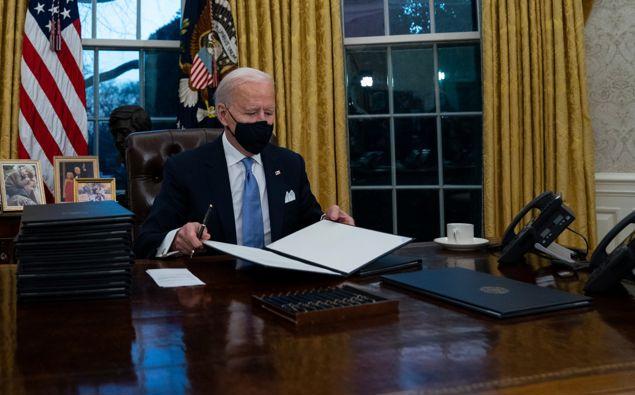 Joe Biden in the Oval Office. (Photo / AP)