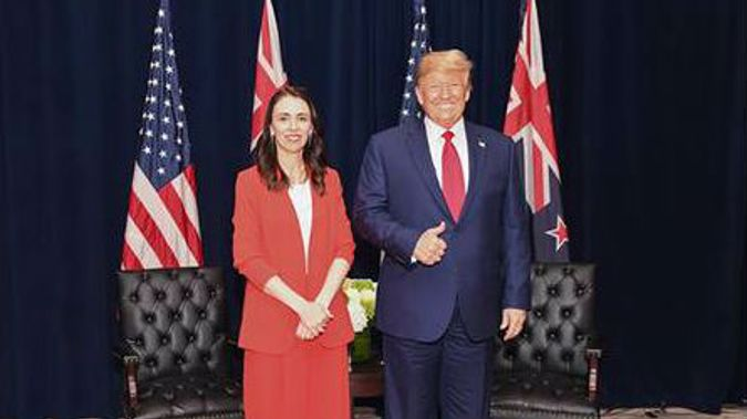 Jacinda Ardern and Donald Trump had a meeting at a UN event in 2019. (Photo / Supplied)