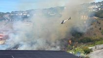 Homes threatened by large scrub fire in Christchurch's Redcliffs