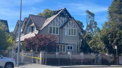The house which was significantly damaged' by a fire in Christchurch. Photo / George Heard